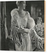 Lee Miller Wearing An Evening Gown Wood Print