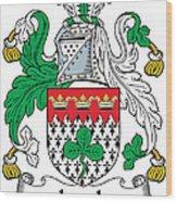 Leech Coat Of Arms Irish Wood Print