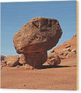 Lees Ferry Balancing Rock Wood Print