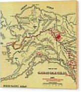 Lees Map Of The Alaskan Gold Fields 1897 Wood Print