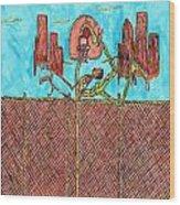 Leg Jam Wood Print by Richard Hockett