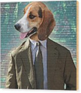 Legal Beagle Wood Print by Nikki Smith
