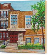 Legare And Hutchison Synagogue Montreal Wood Print