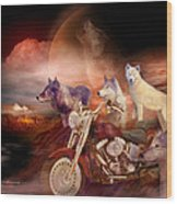 Legend Of Wolf Mountain Wood Print