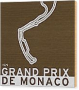 Legendary Races - 1929 Grand Prix De Monaco Wood Print