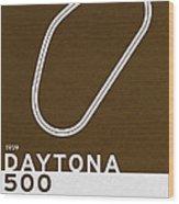 Legendary Races - 1959 Daytona 500 Wood Print