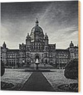 Legislature Building British Columbia Victoria Wood Print