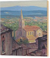 L'eglise Sur La Colline Wood Print