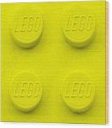 Lego Block Yellow Wood Print