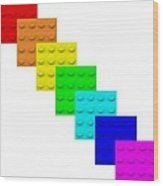 Lego Box White Wood Print