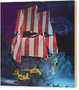Lego Pirate Ship Wood Print by Samuel Whitton