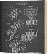 Lego Toy Building Brick Patent - Dark Wood Print by Aged Pixel