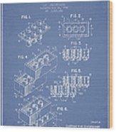 Lego Toy Building Brick Patent - Light Blue Wood Print