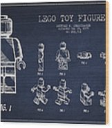Lego Toy Figure Patent Drawing Wood Print