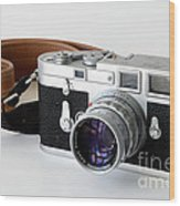 Leica M3 With Leather Strap Wood Print