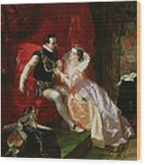 Leicester And Amy Robsart At Cumnor Wood Print by Edward Matthew Ward