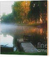 Leidy Lake Campground Wood Print
