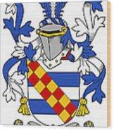 Leigh Coat Of Arms II Bradley Lancashire Wood Print