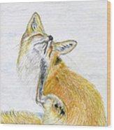 Leisure Fox Wood Print