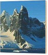 Lemaire Channel Antarctica Wood Print