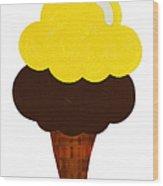 Lemon And Chocolate Ice Cream Wood Print