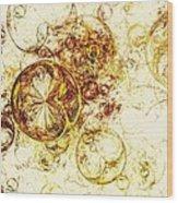 Lemon Bubbles Wood Print