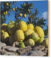 Lemon  Wood Print