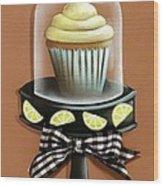 Lemon Cupcake Wood Print