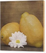 Lemon Fresh Still Life Wood Print