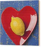 Lemon Heart Wood Print by Garry Gay