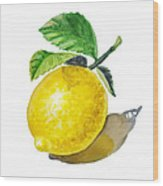 Artz Vitamins The Lemon Wood Print