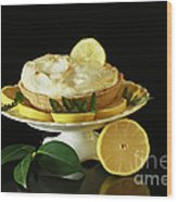 Lemon Meringue Delight Wood Print