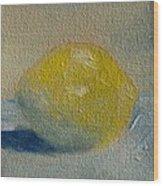 Lemon No 1 Wood Print