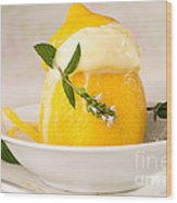 lemon Sorbet   Wood Print
