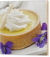 Lemon Tart  Wood Print