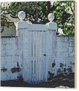 Lemon Tree Gate Wood Print