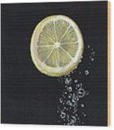 Lemon Up Wood Print