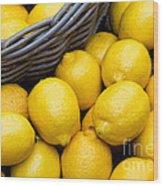 Lemons 01 Wood Print