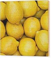 Lemons 02 Wood Print
