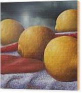 Lemons And Chilis Wood Print
