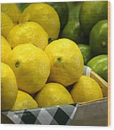 Lemons And Limes Wood Print by Julie Palencia