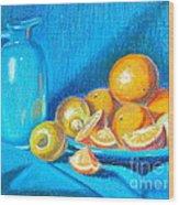 Lemons And Oranges Wood Print