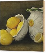 Lemons Today Wood Print by Diana Angstadt