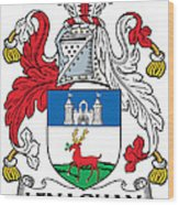 Lenaghan Coat Of Arms Irish Wood Print