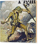 Lend The Way They Fight, 1918 Wood Print