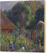 Lenna By A Summer House Wood Print by William James Glackens