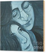 Lennon And Ono Wood Print