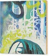 Lennon Wood Print by Erica Falke