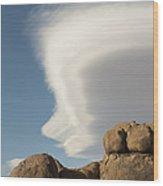 Lenticular Cloud Wood Print