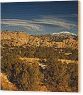 Lenticular Clouds Near Tesuque Pueblo Nm Wood Print